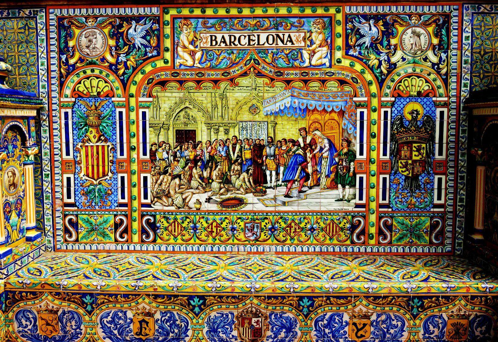 Banc de Barcelone, plaza de España (Séville)