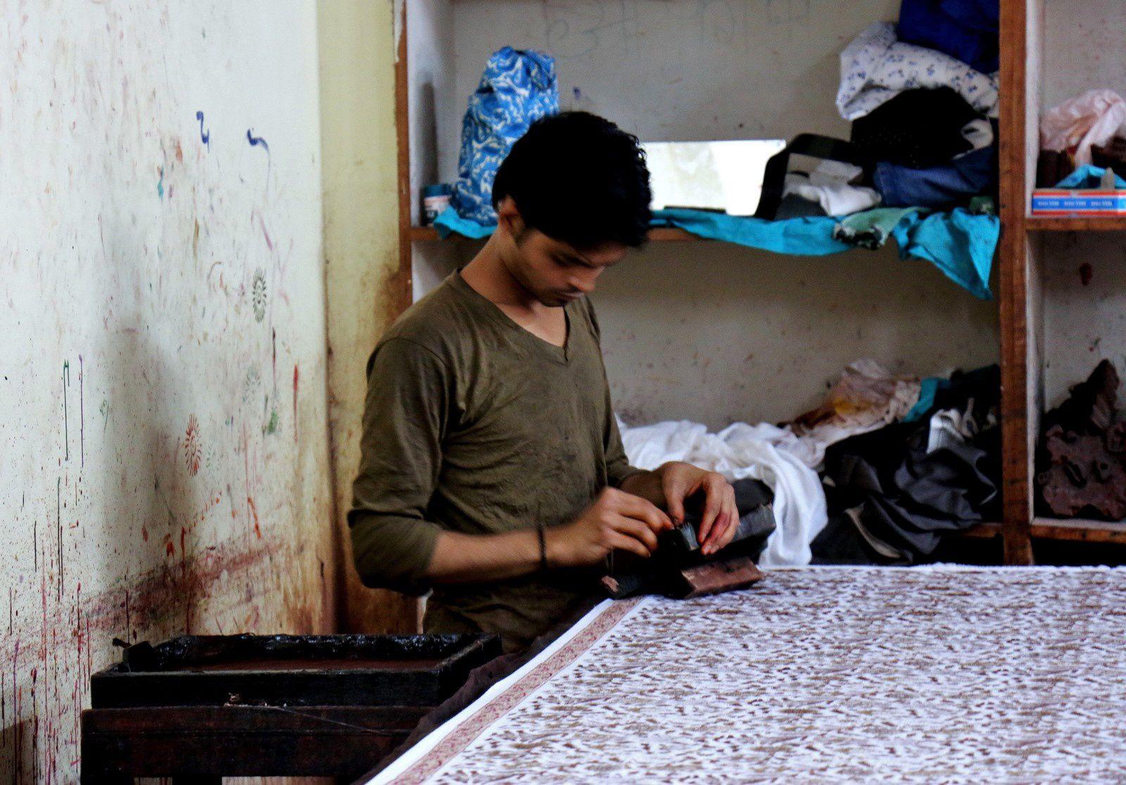 Tissus imprimés, Rajasthan (Inde)