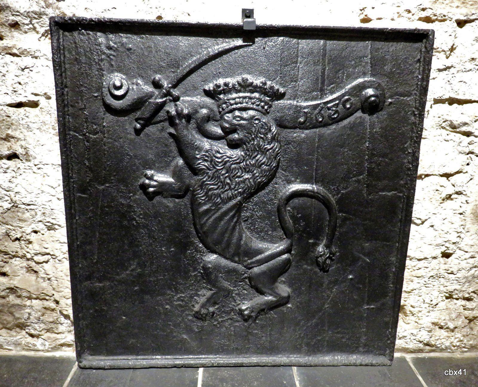 Abbaye d'Orval (Belgique), taques (plaques) de cheminée (1/3)