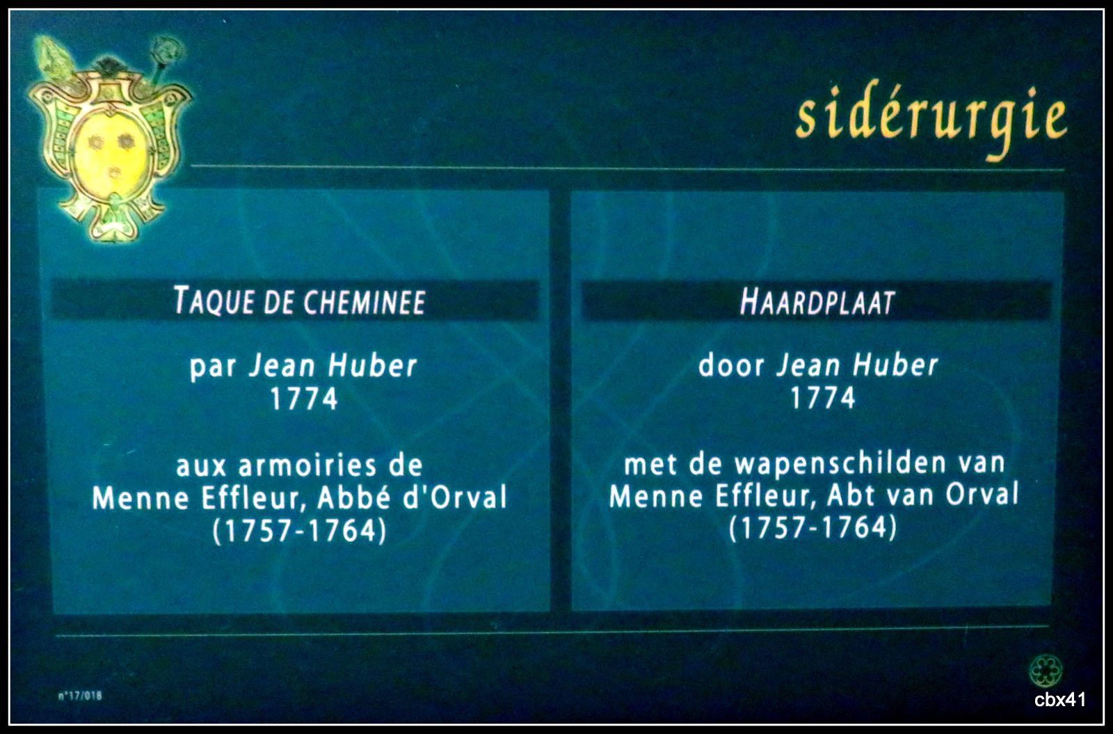 Abbaye d'Orval (Belgique), taques (plaques) de cheminée (2/3)