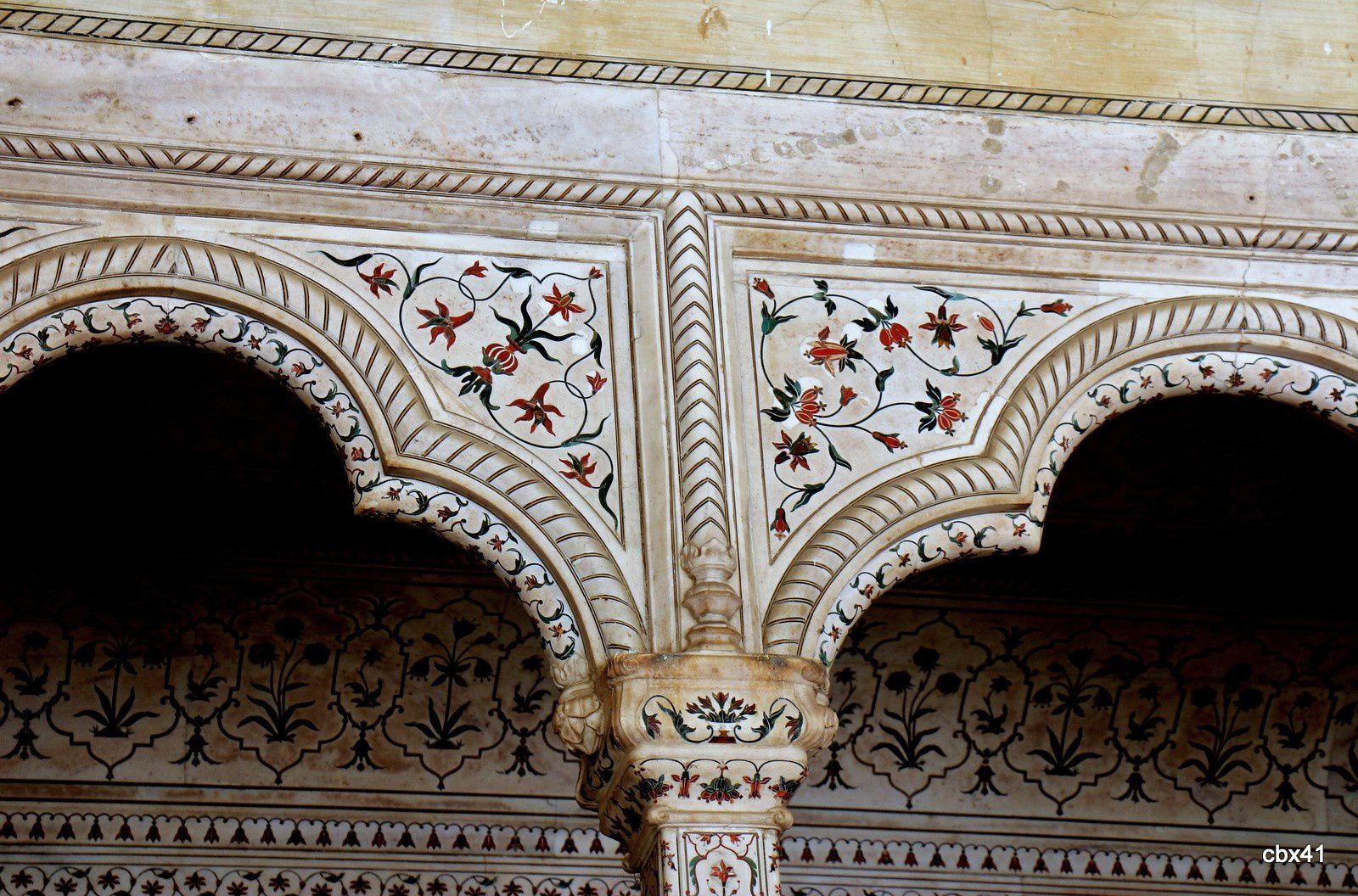 Meena Masjid (la mosquée Mina), fort Rouge à Agra