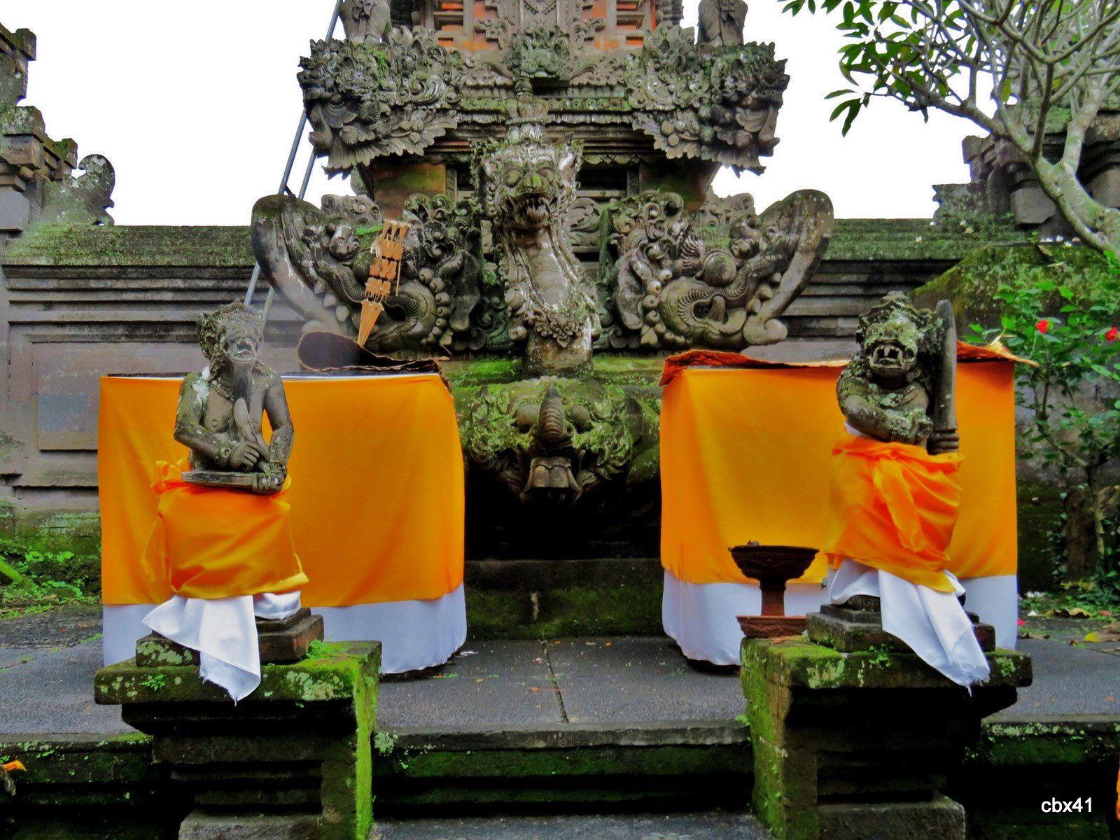 Temple Pura Dalem Puri Peliatan, Ubud (Bali, Indonésie), autels 2/2