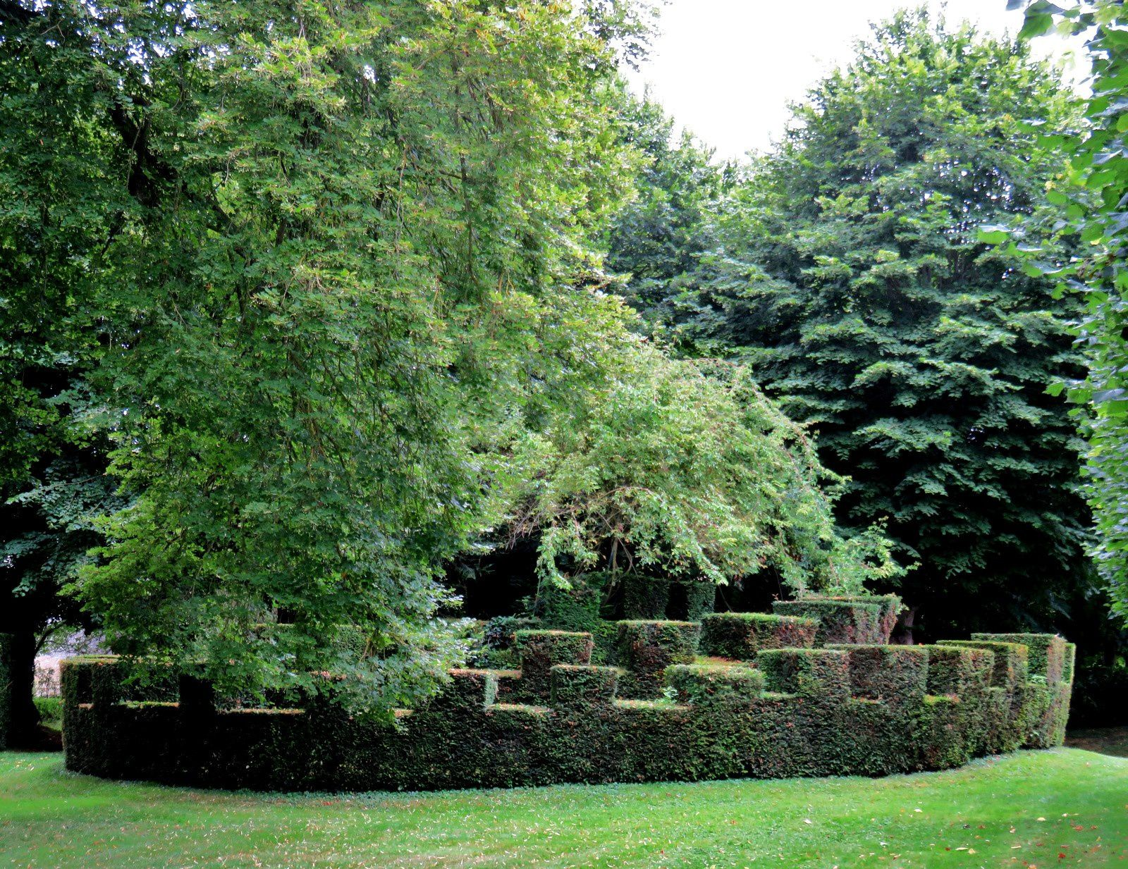Château de Vendeuvre, l'art topiaire dans les jardins