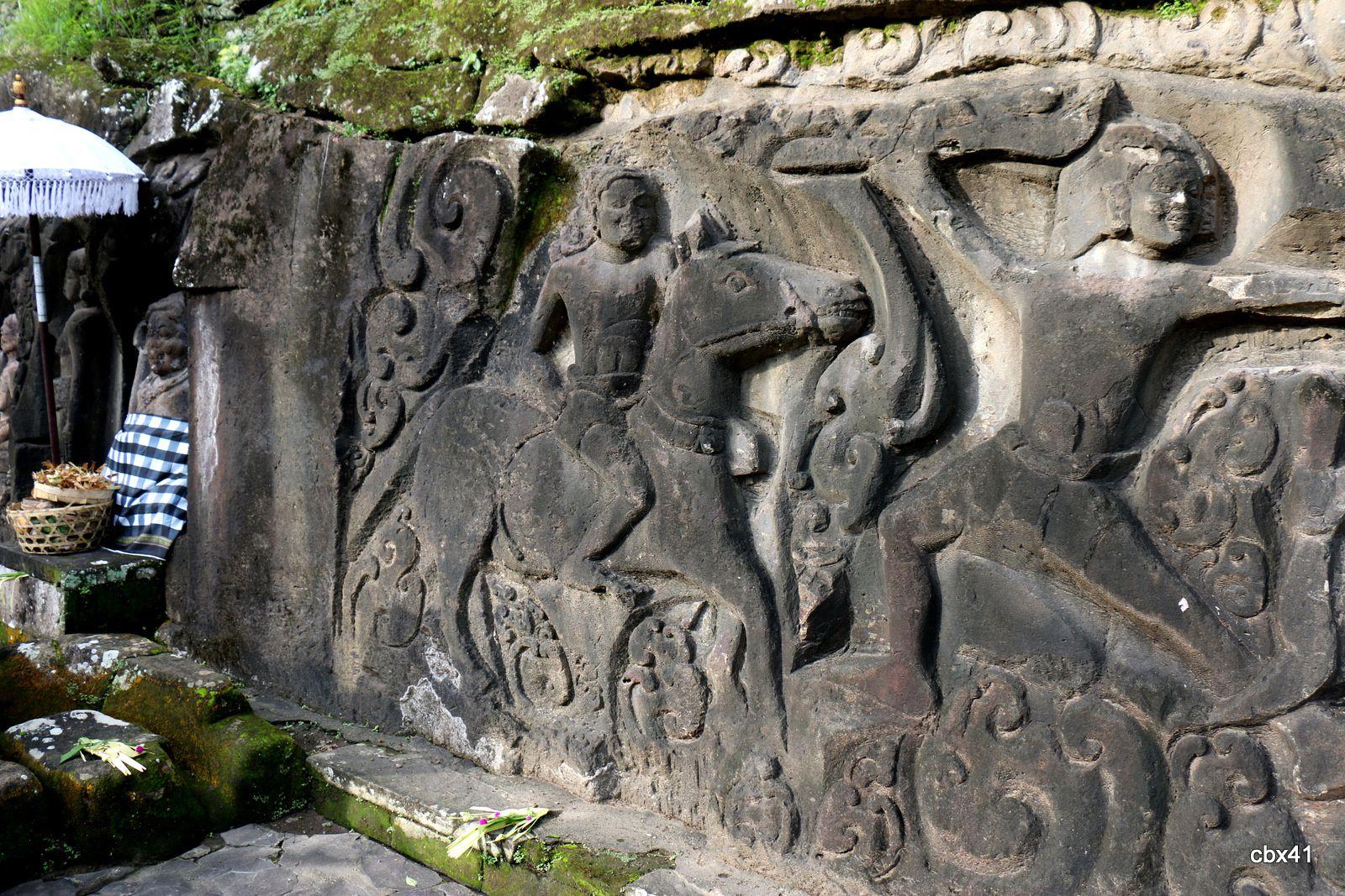Relief Yeh Pulu,  Bedulu (Bali, Indonésie)