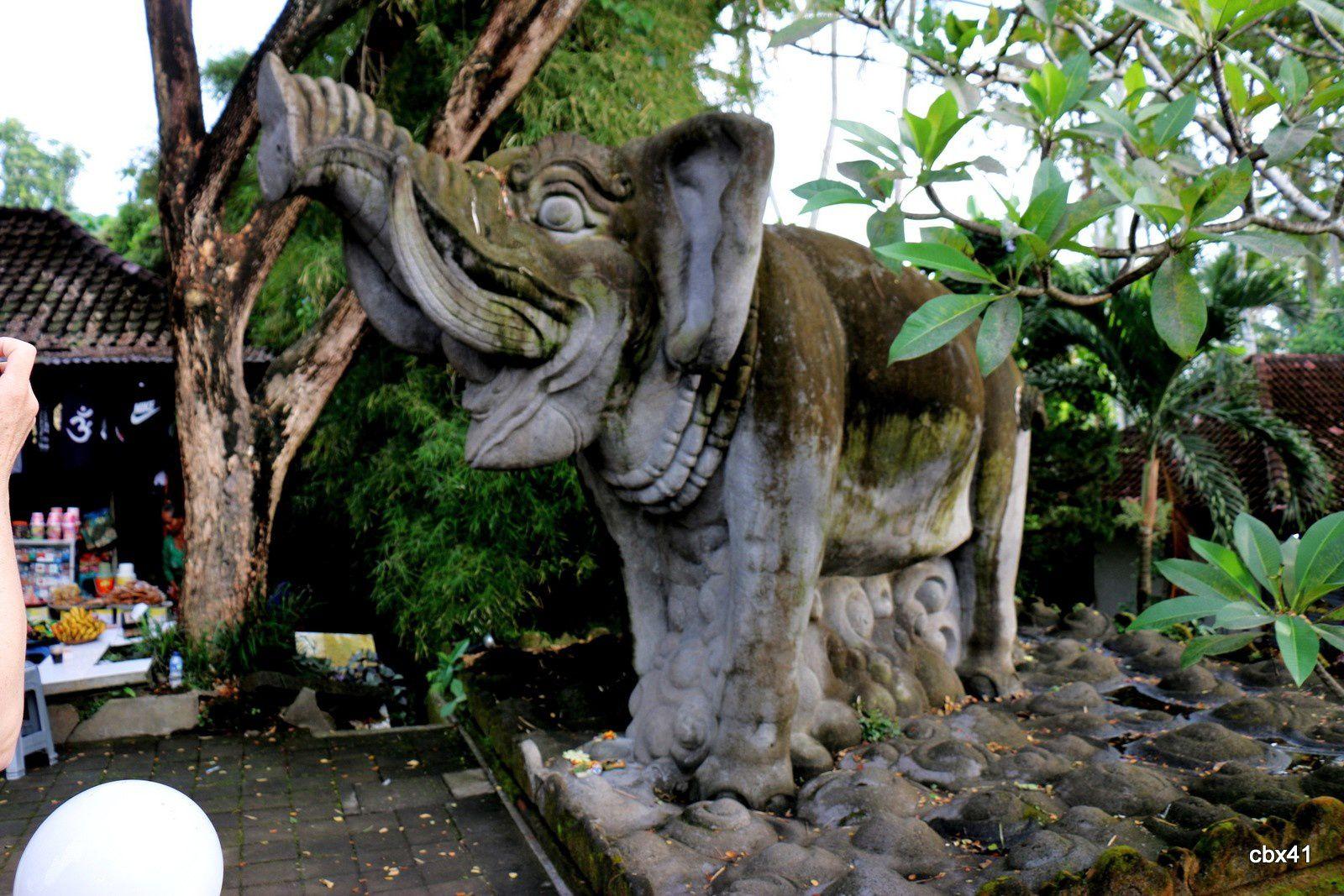 Les bains du temple de Goa Gajah (Grotte de l'éléphant),  Gianyar (Bali, Indonésie)