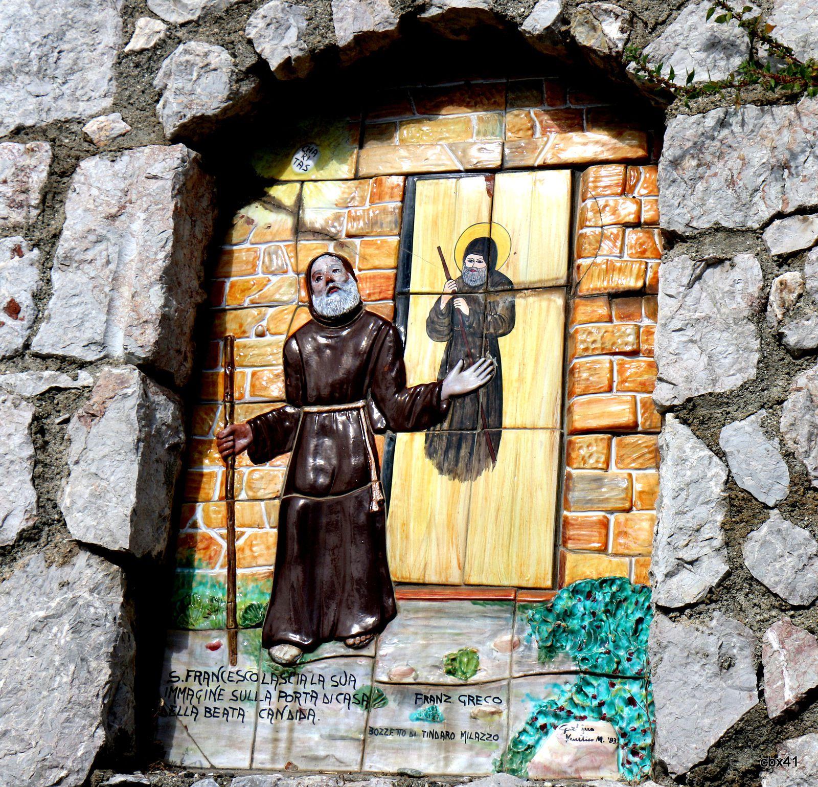 Francesco di Paola laissant son image sur une porte