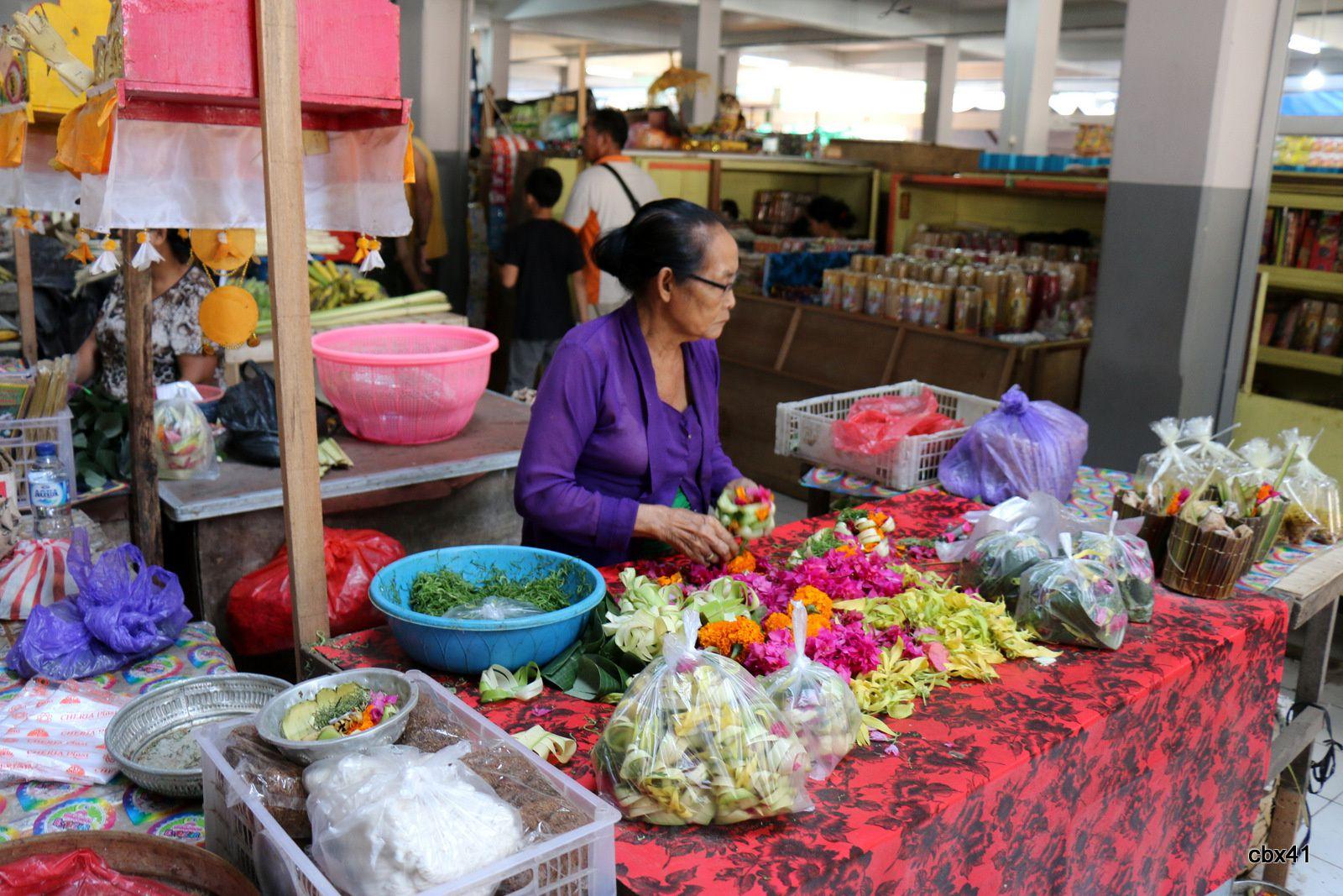 Banjar (Bali), commerces de fruits et légumes