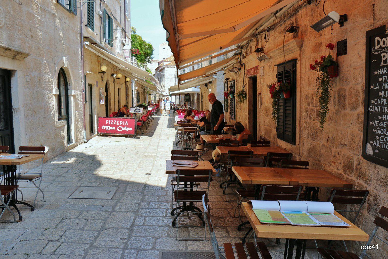 Dans les ruelles de la vieille ville de Dubrovnik (Croatie)