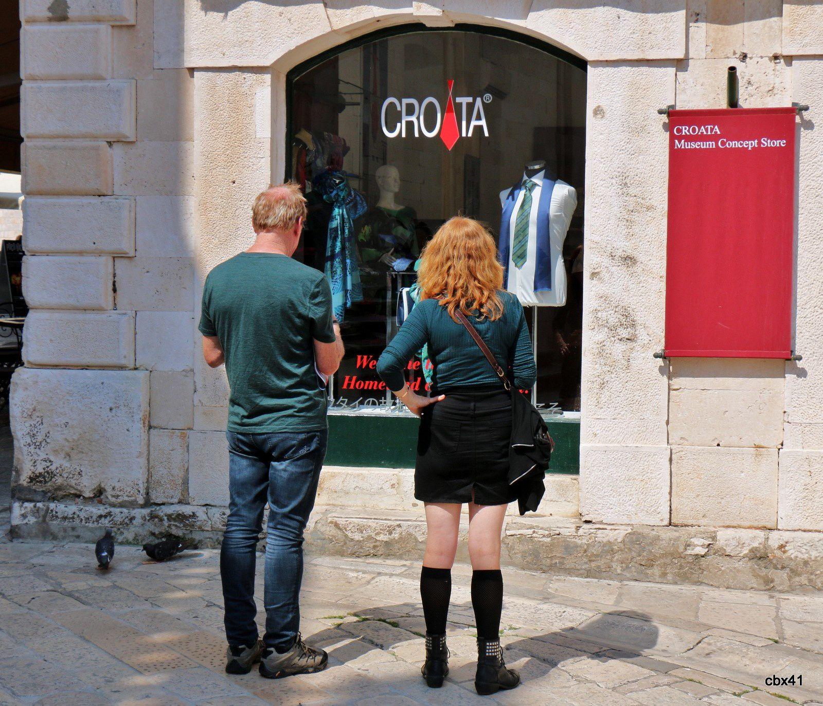Boutique d'art dans la vieille ville de Dubrovnik (Croatie)