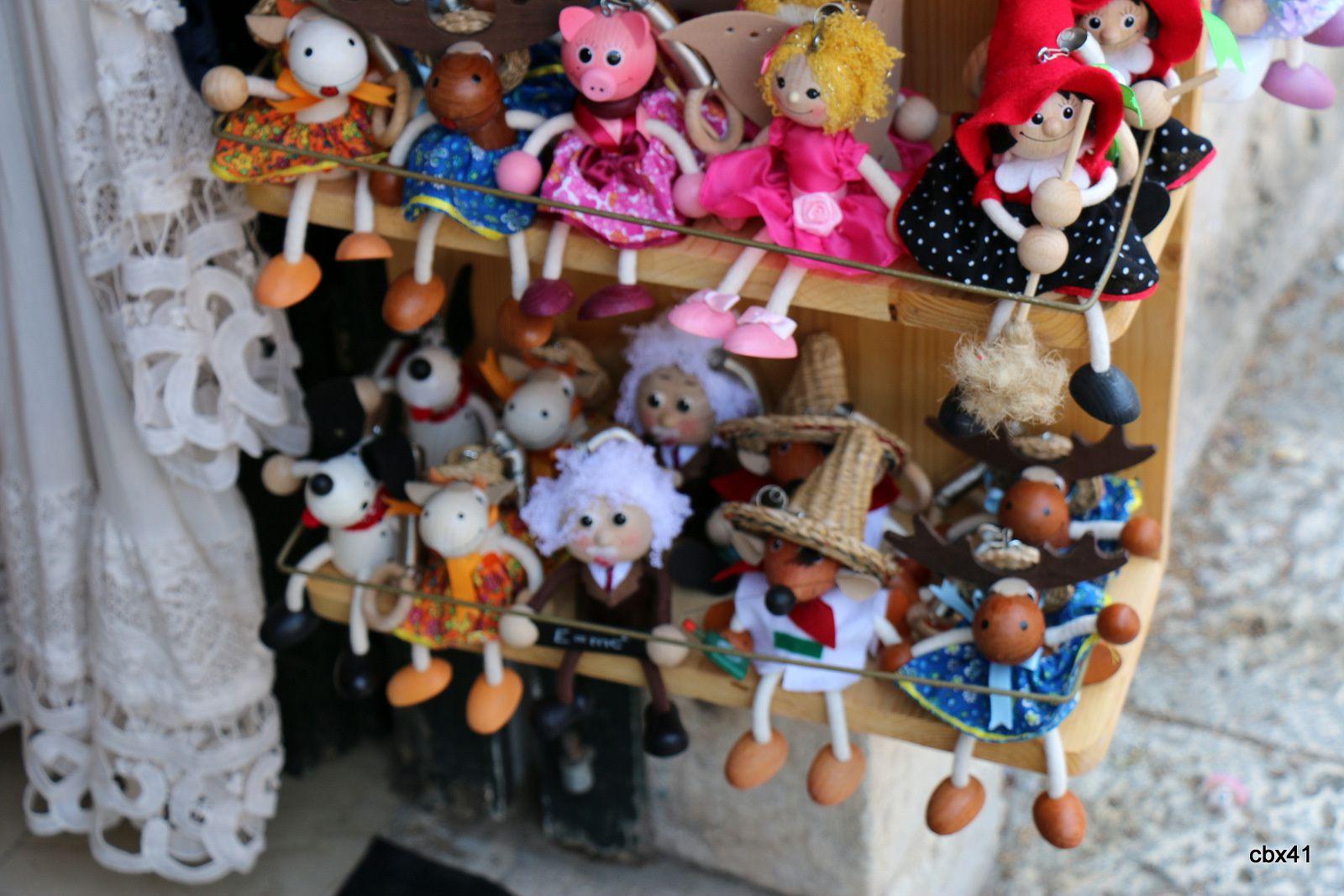 Boutique de poupées dans la vieille ville de Dubrovnik (Croatie)