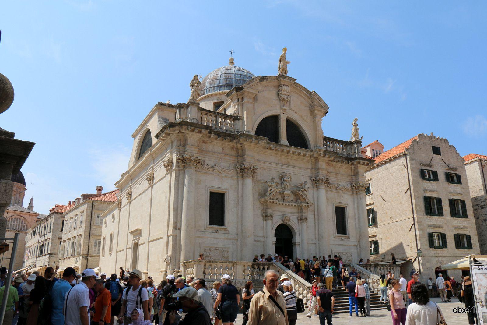 Vitraux et Orgue de l'église Saint Blaise, vieille ville de Dubrovnik (Croatie)