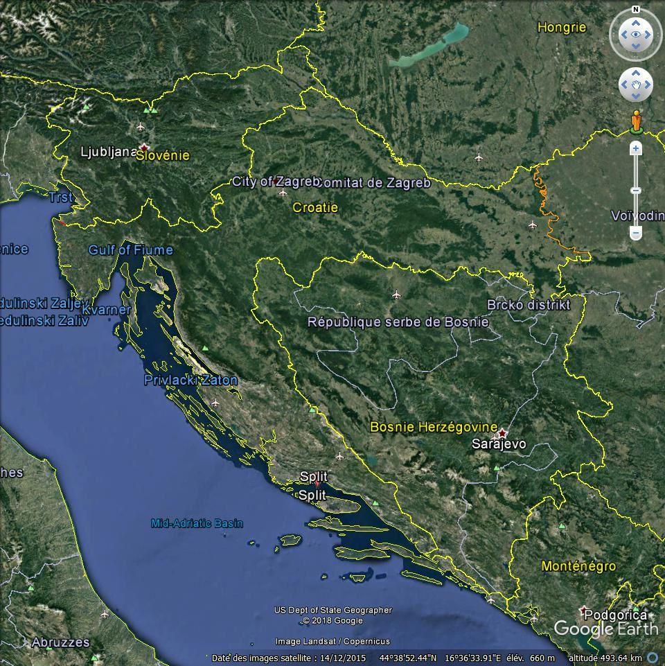 Paquebot Wind Surf à Spllt (Croatie)