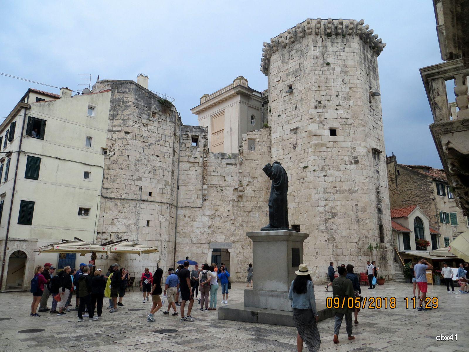 Marko Marulić, centre historique de Split (Croatie)
