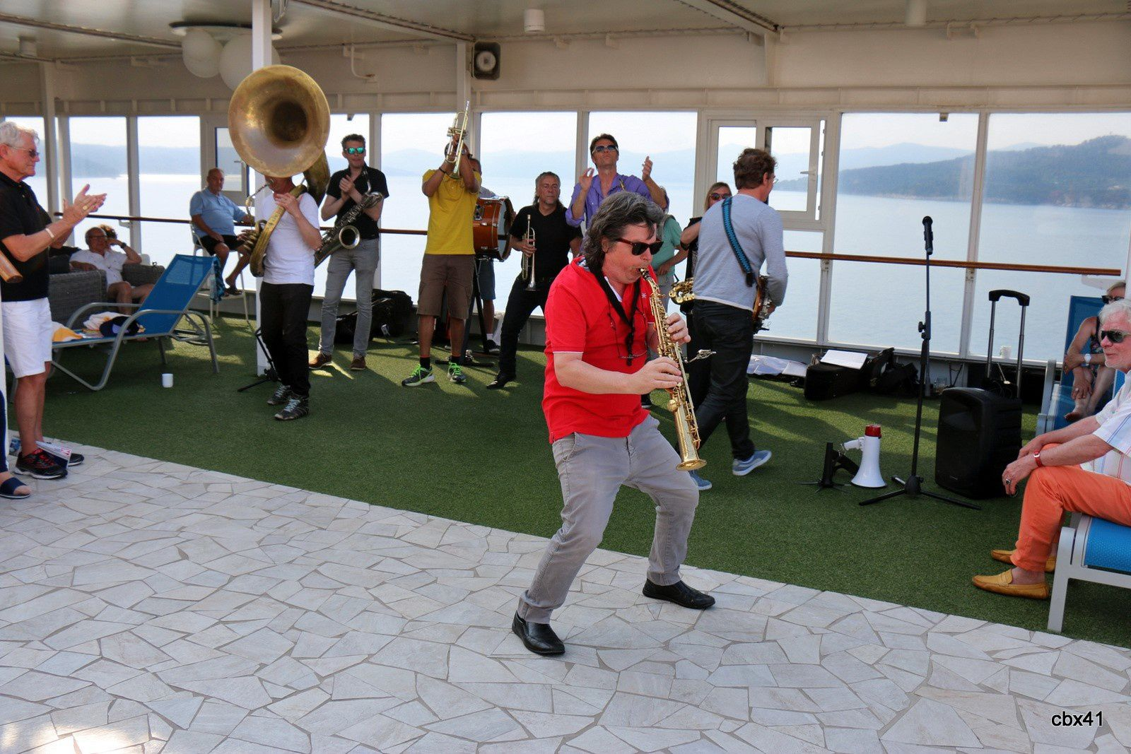 Didier Marty au saxophone