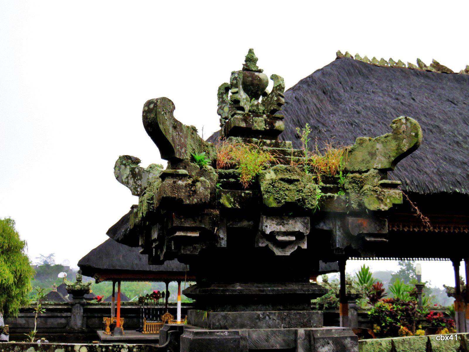 Temple Basukian Puseh Jagat, un petit autel, Bali (Indonésie)