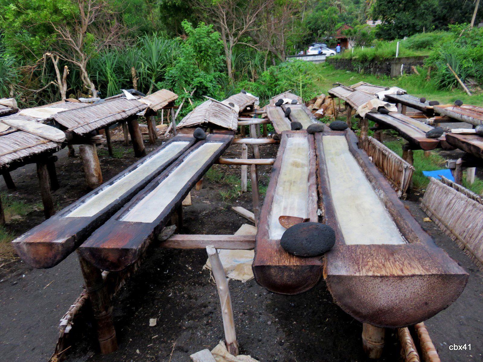 Fabrique de sel à Bali