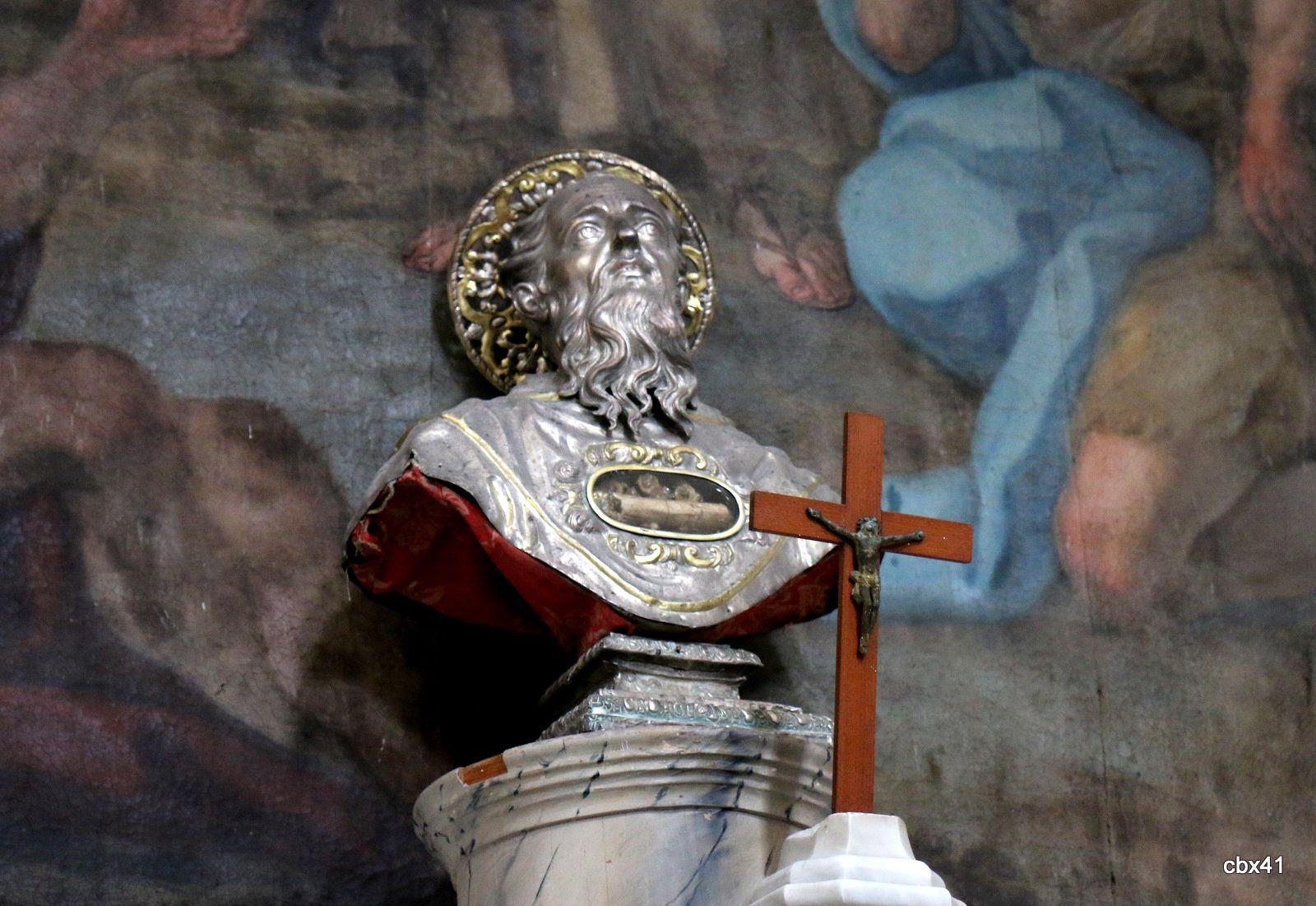 Buste en argent de San Calogero, cathédrale de Lipari