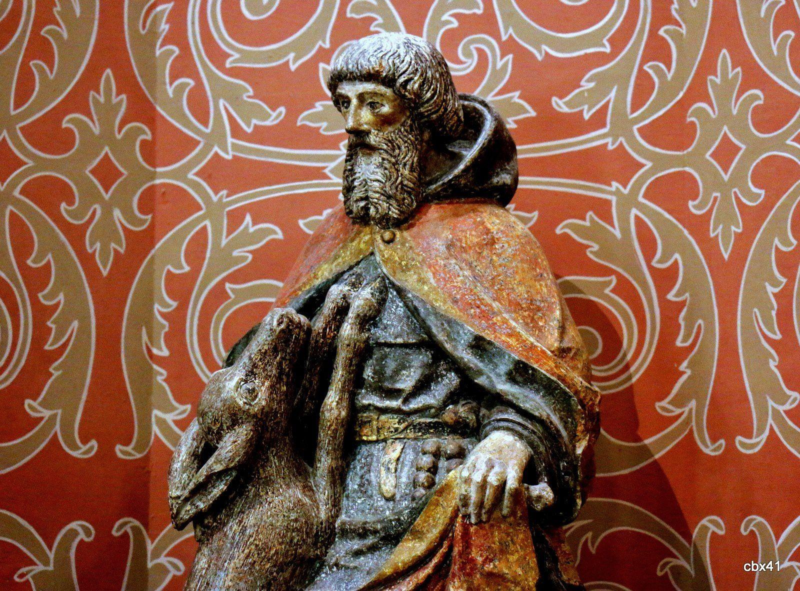 Saint Gilles et sa biche, palais de la Bénédictine