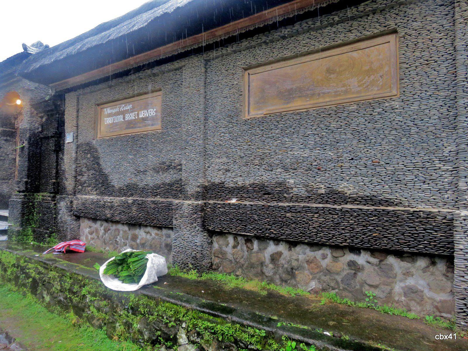 Tenganan Pegringsingan (Bali), entrées de maisons
