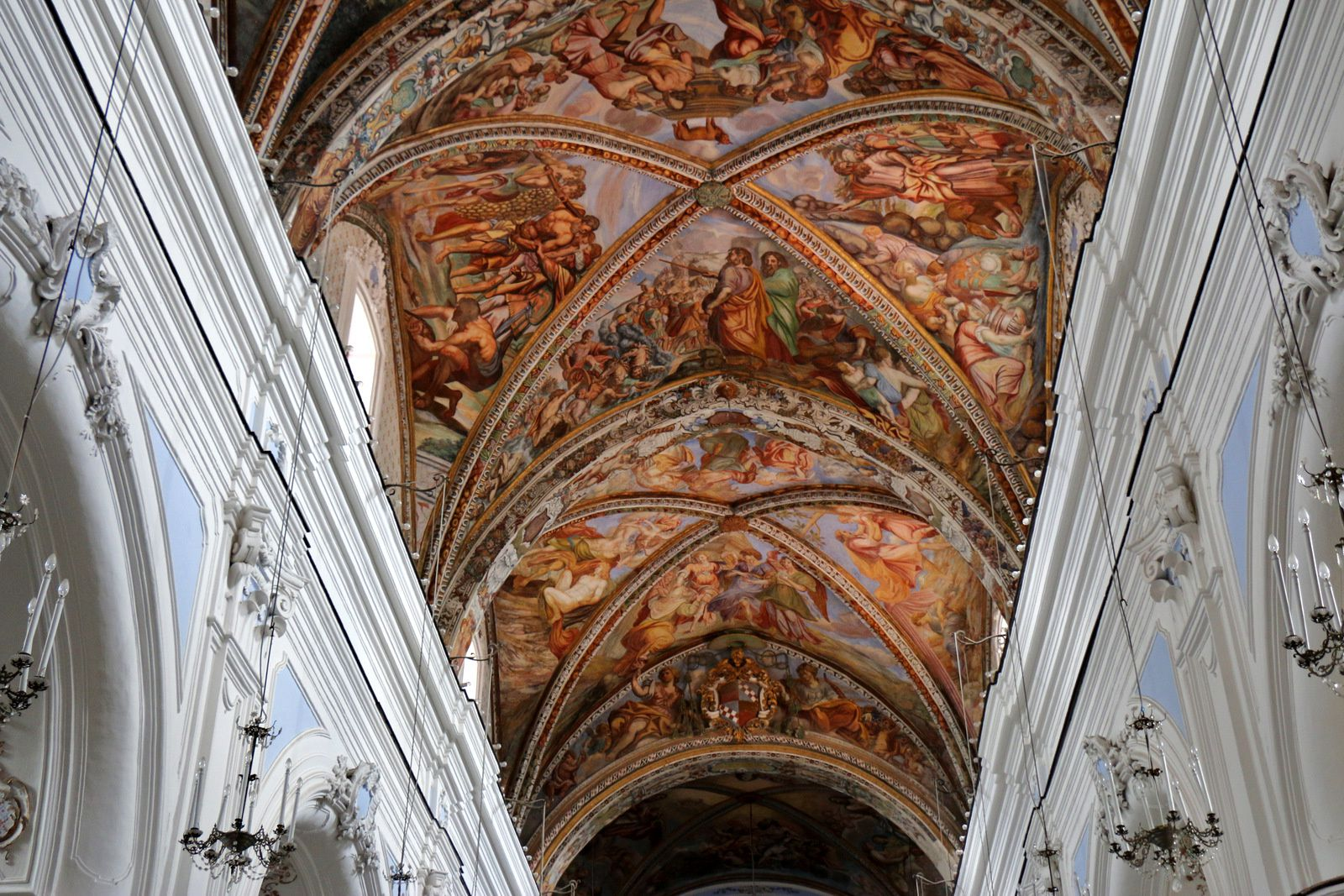 Voûte de la nef de la cathédrale de Lipari