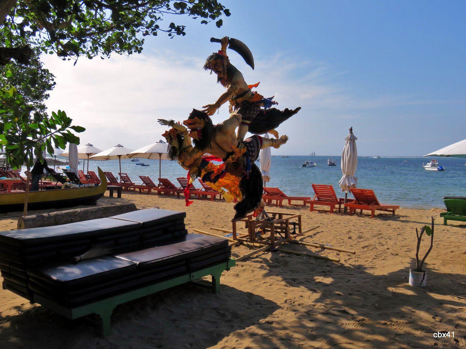 Démon belliqueux, plage de Sanur, Denpasar (Bali)