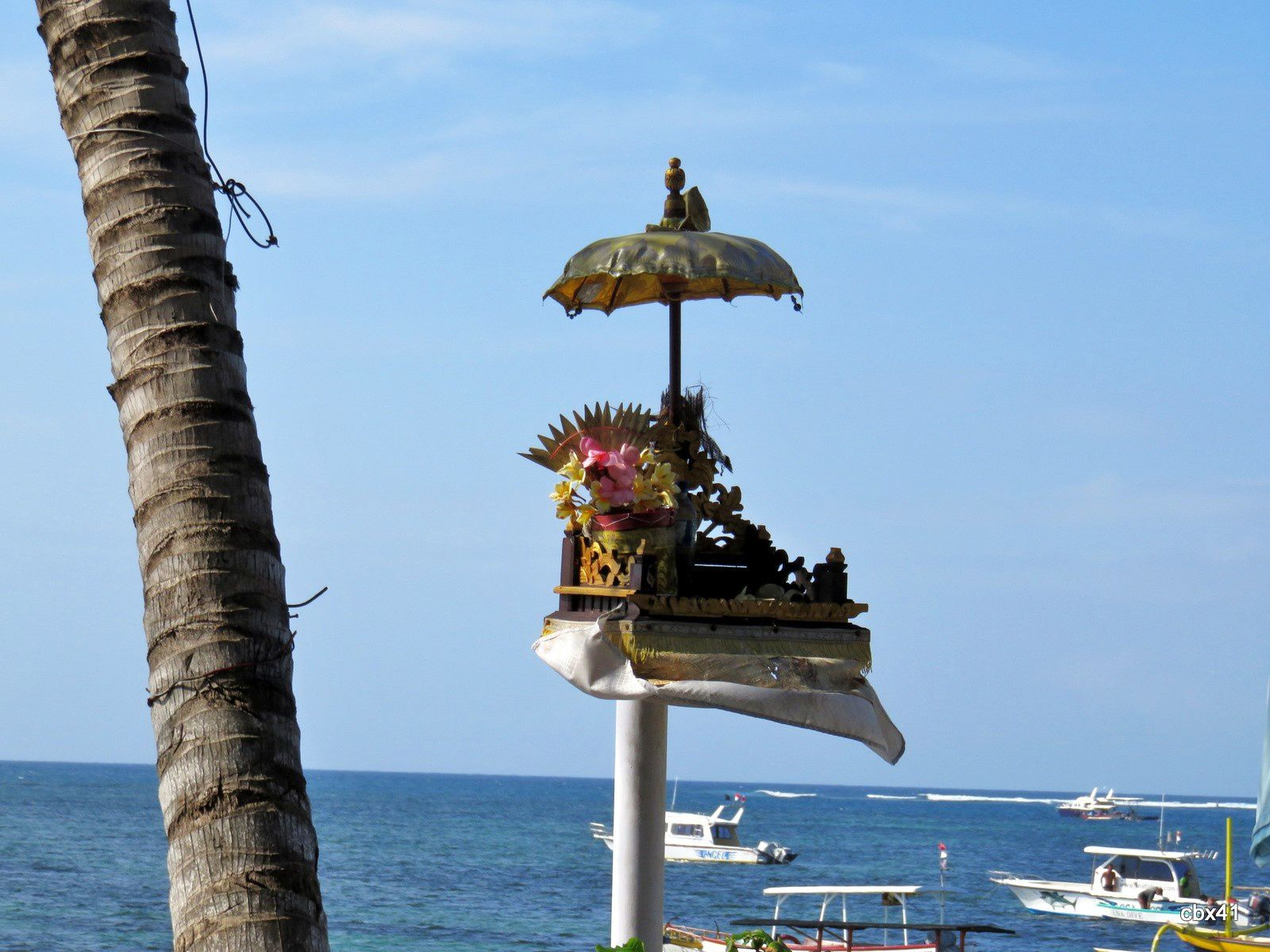 Espaces détente, plage de Sanur, Denpasar (Bali)