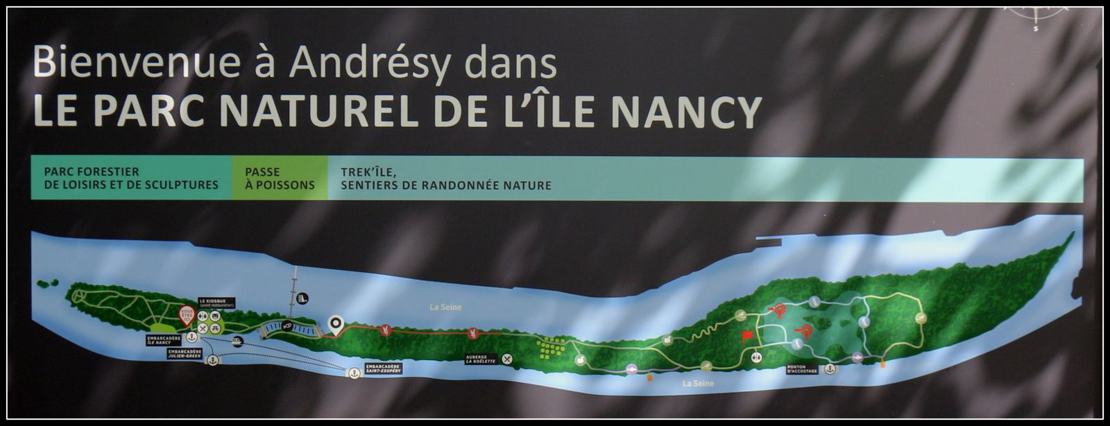 Animaux, Île Nancy à Andrésy