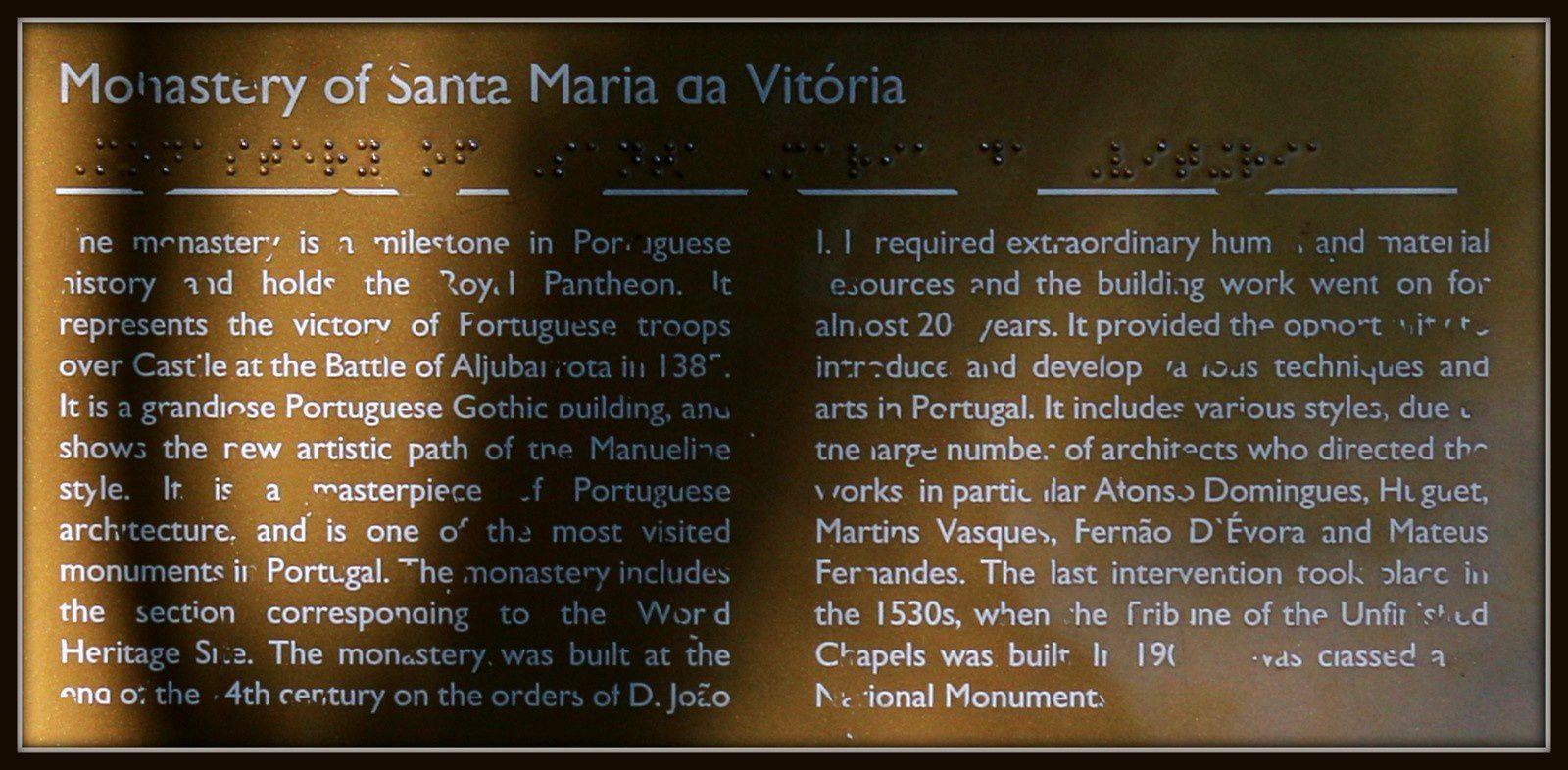 Monastère Notre Dame de la Victoire, Portugal