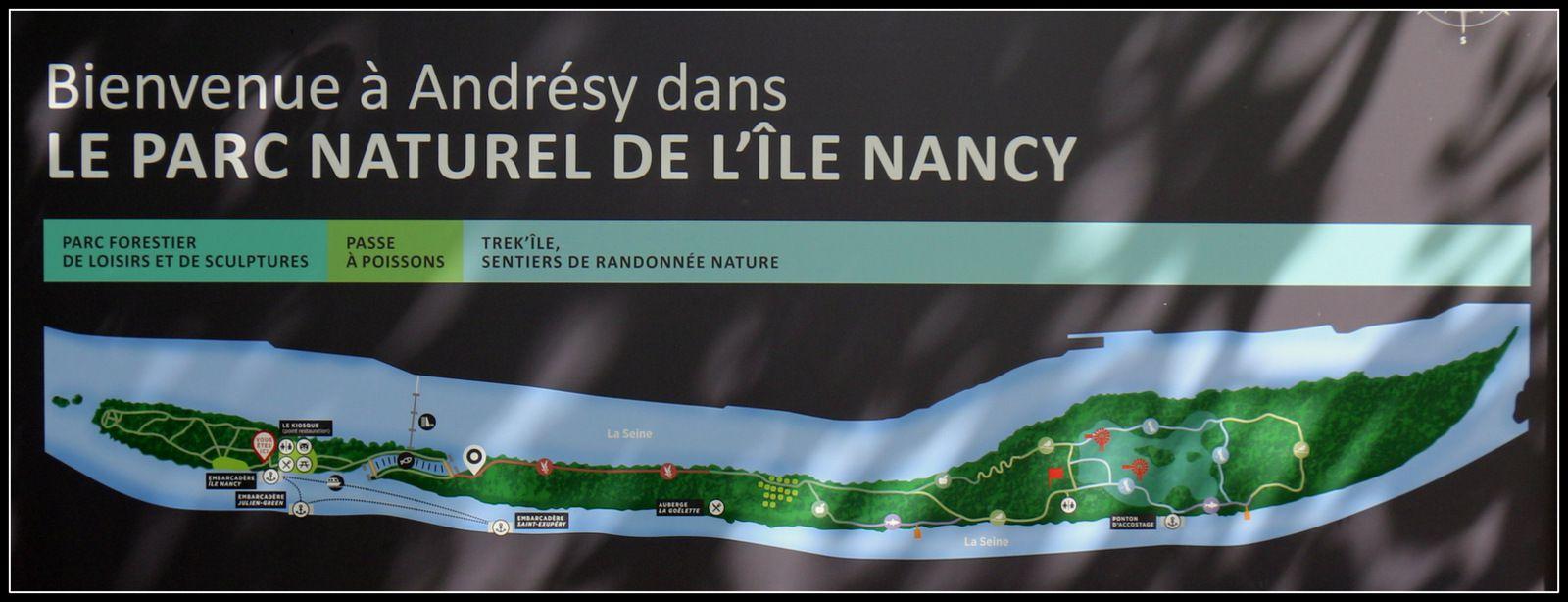 Oeuvres monumentales de Alain Clément, ïle Nancy à Andrésy