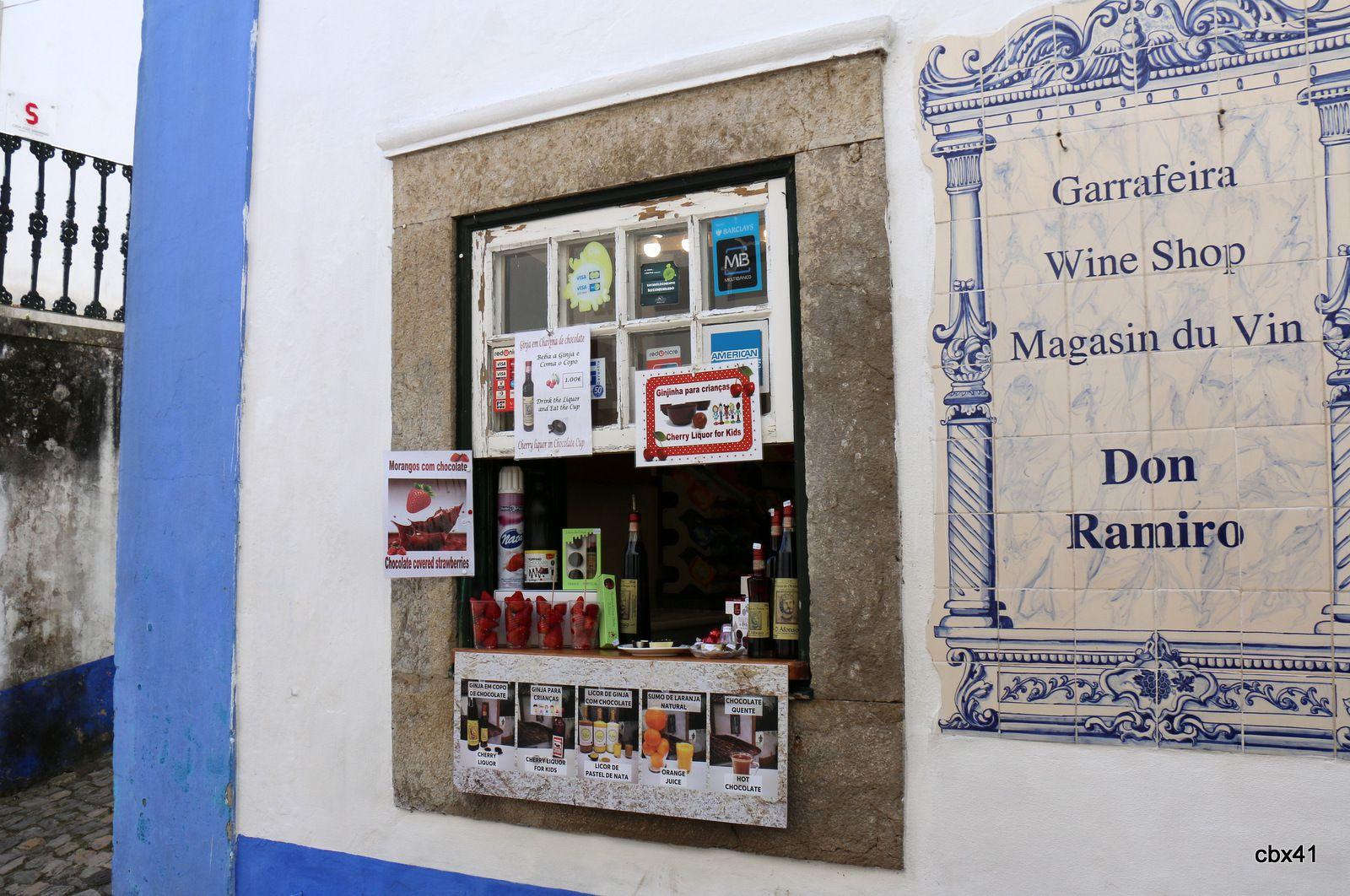 Restauration et commerces de bouche, Obidos (Portugal)