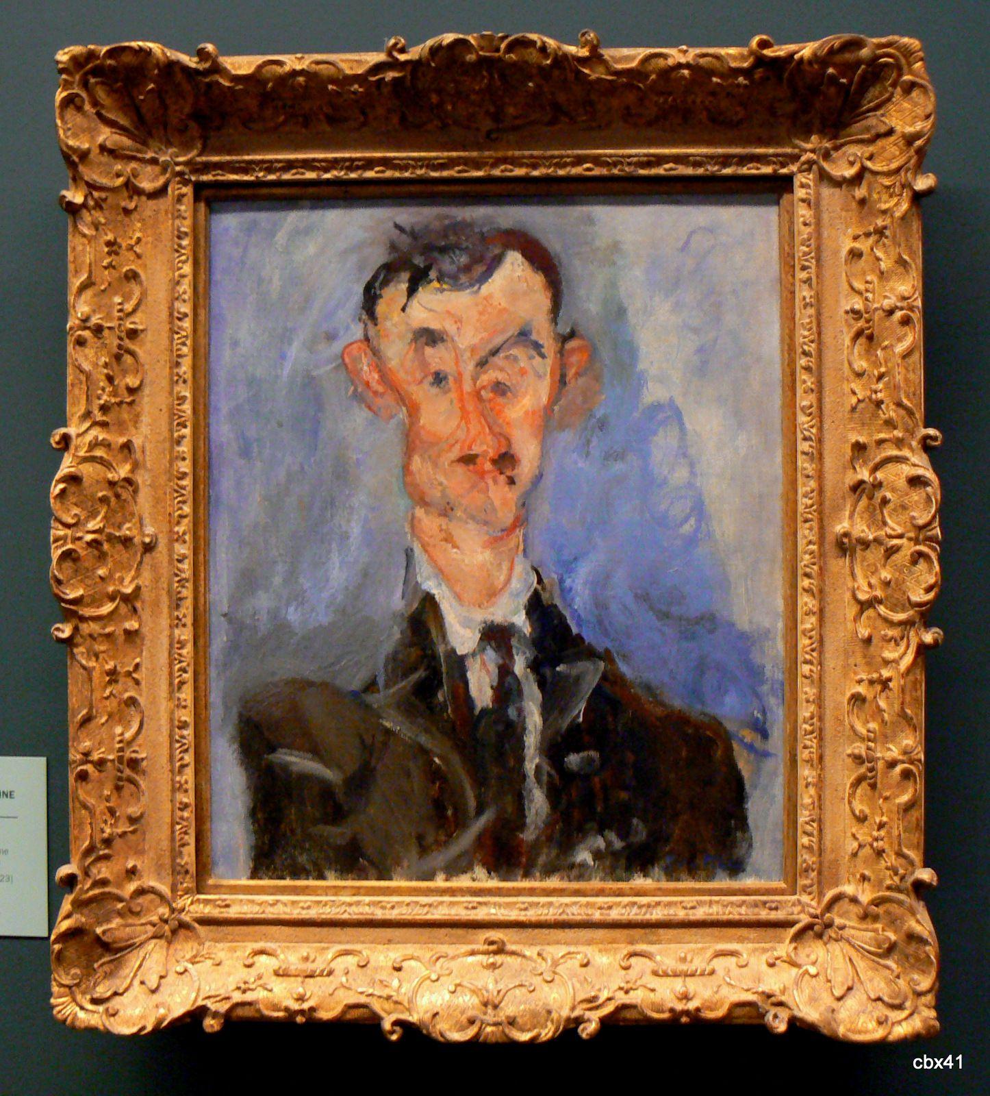 Chaïm Soutine, Portrait d'un homme (Emile Lejeune)