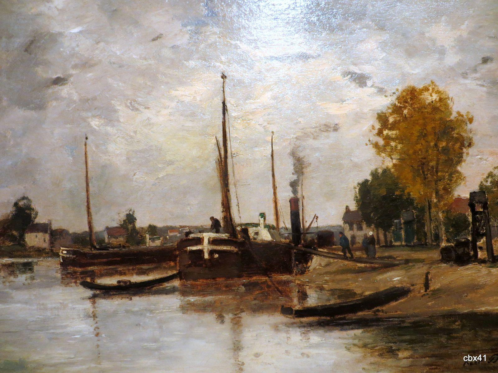 Charles François Daubigny, Péniches sur l'Oise