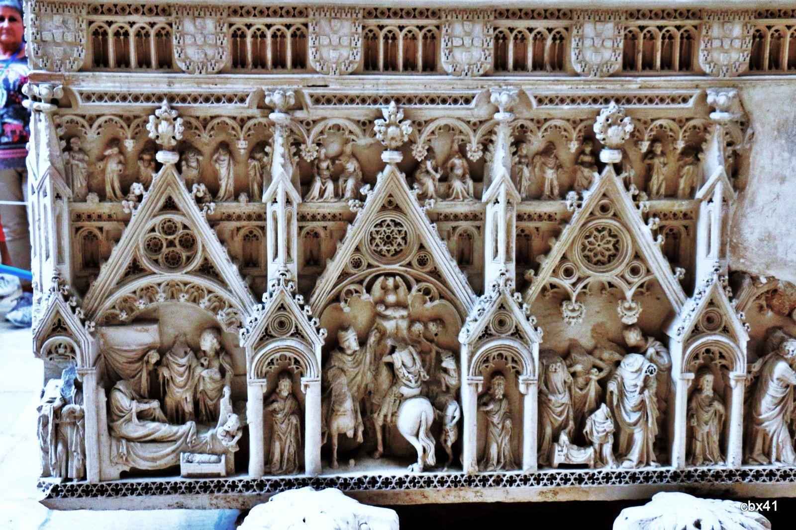 Tombeau du roi Pierre, Eglise du monastère d'Alcobaça (Portugal)