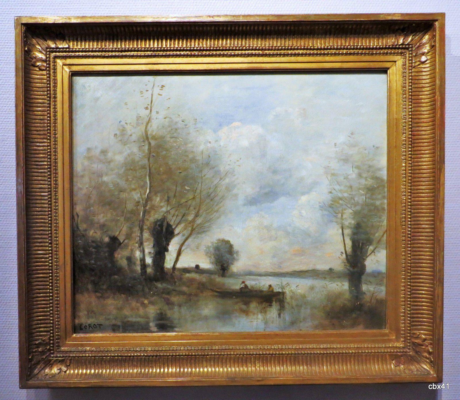Jean-Baptiste Corot, Le Pêcheur en barque auprès des saules