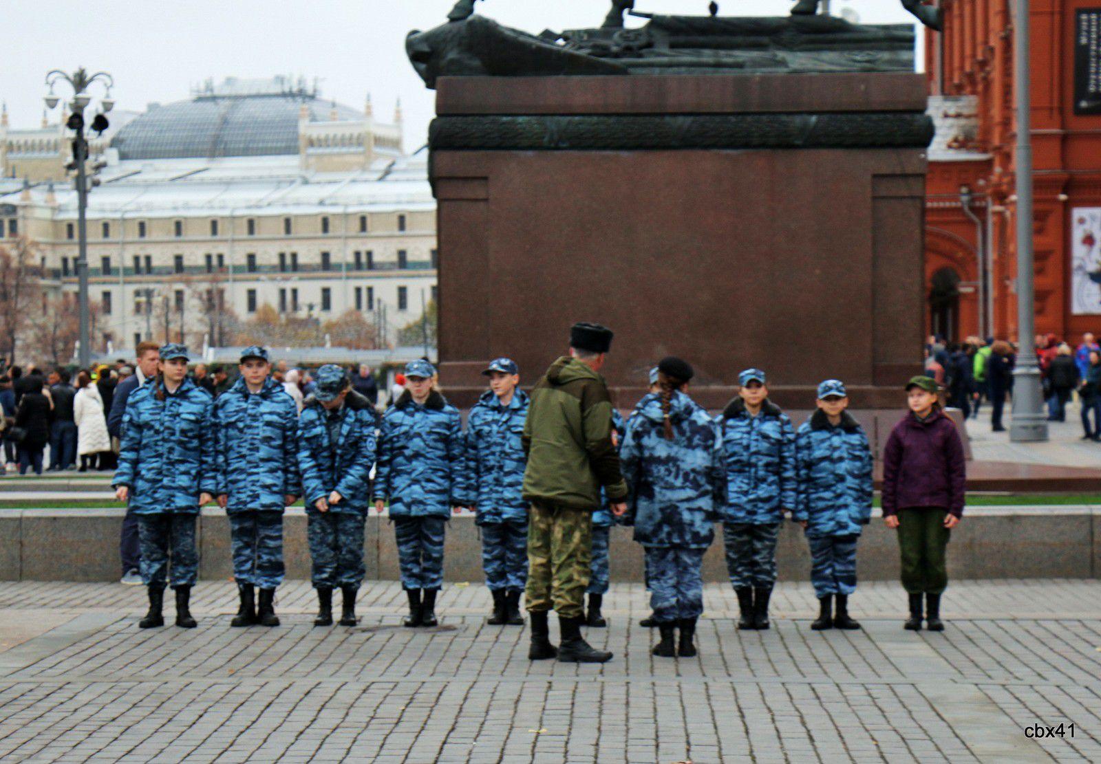 Cadets russes, Place du Manège à Moscou