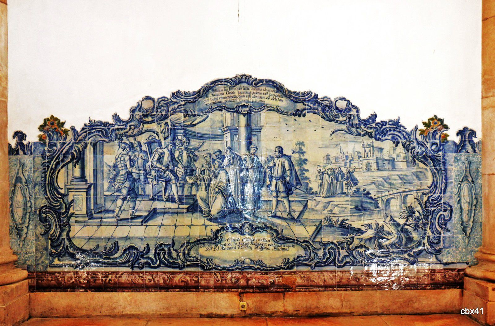 Panneaux d'azulejos, salle des Rois du monastère d'Alcobaça (Portugal)