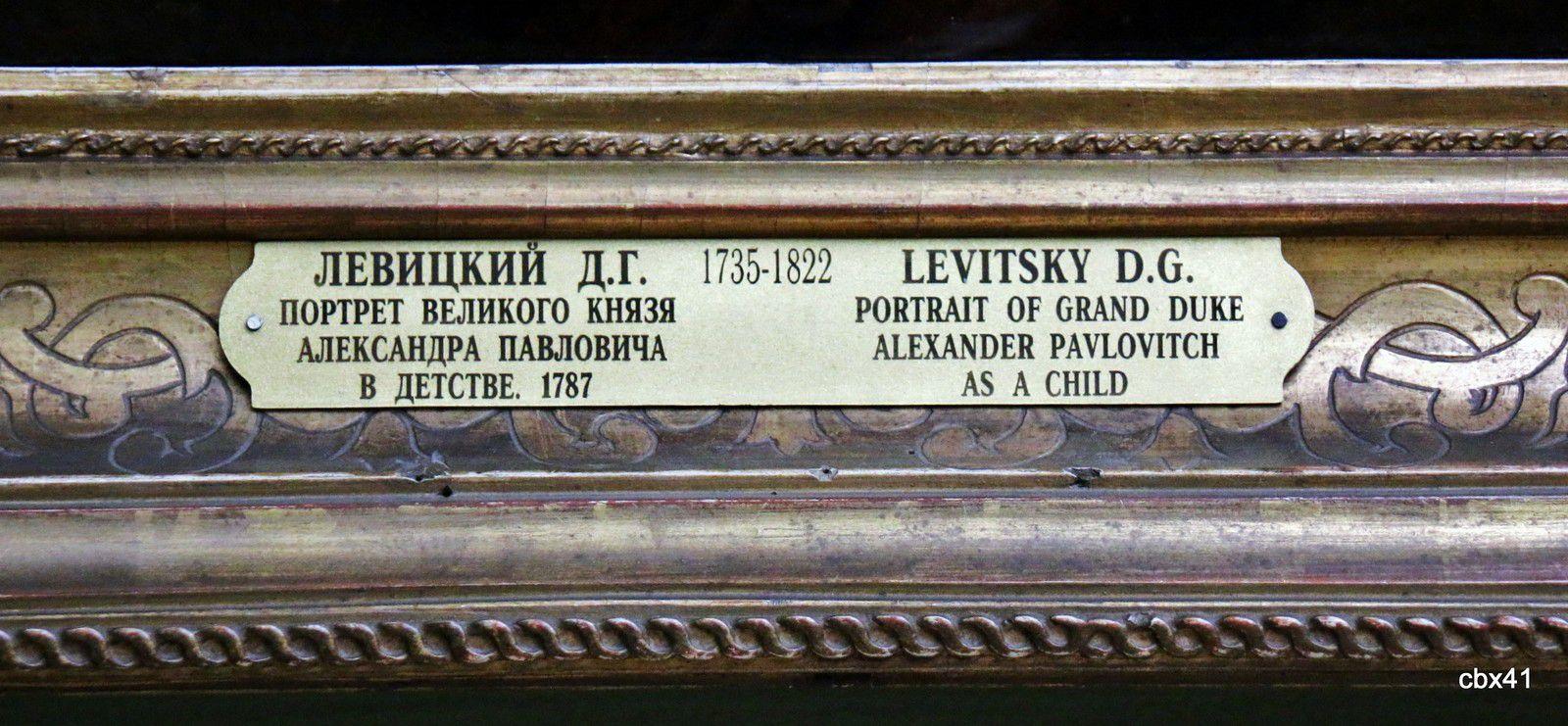 Dmitri Levitski, Portrait du Grand Duc Alexander Pavlovitch enfant
