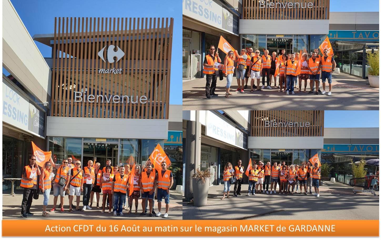 Grève ce 16 Août au matin des salariés du magasin de Gardanne