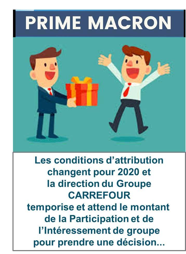 Prime Macron 2020, LadirectiontemporiseetattendlemontantdelaParticipation etdel'IntéressementdeGroupepourprendreunedécision...