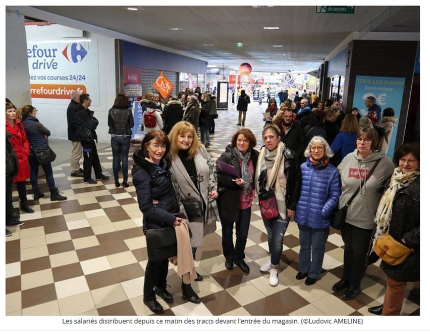 Cherbourg : la location-gérance de l'hypermarché Carrefour inquiète les salariés
