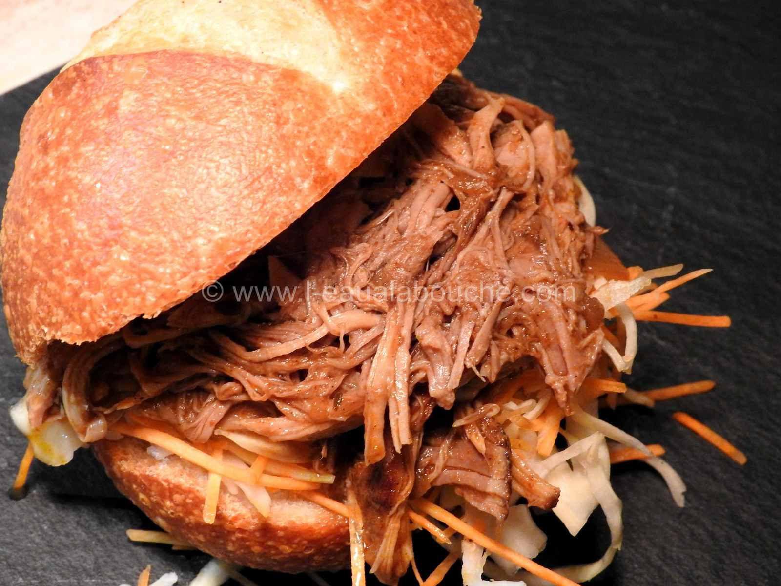 Pulled Pork-Effiloché de Porc