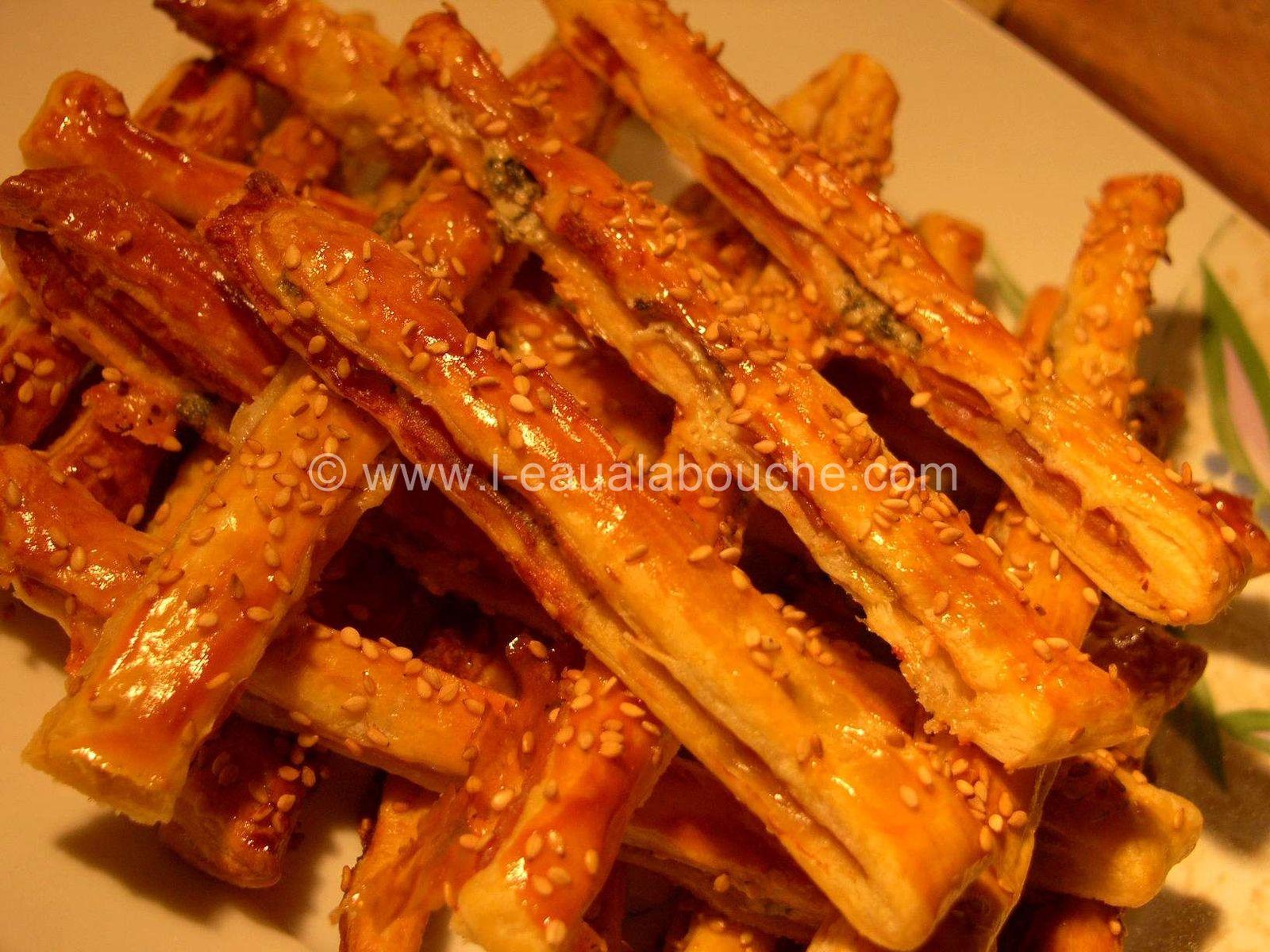 Flûtes au Jambon Cru et au Roquefort
