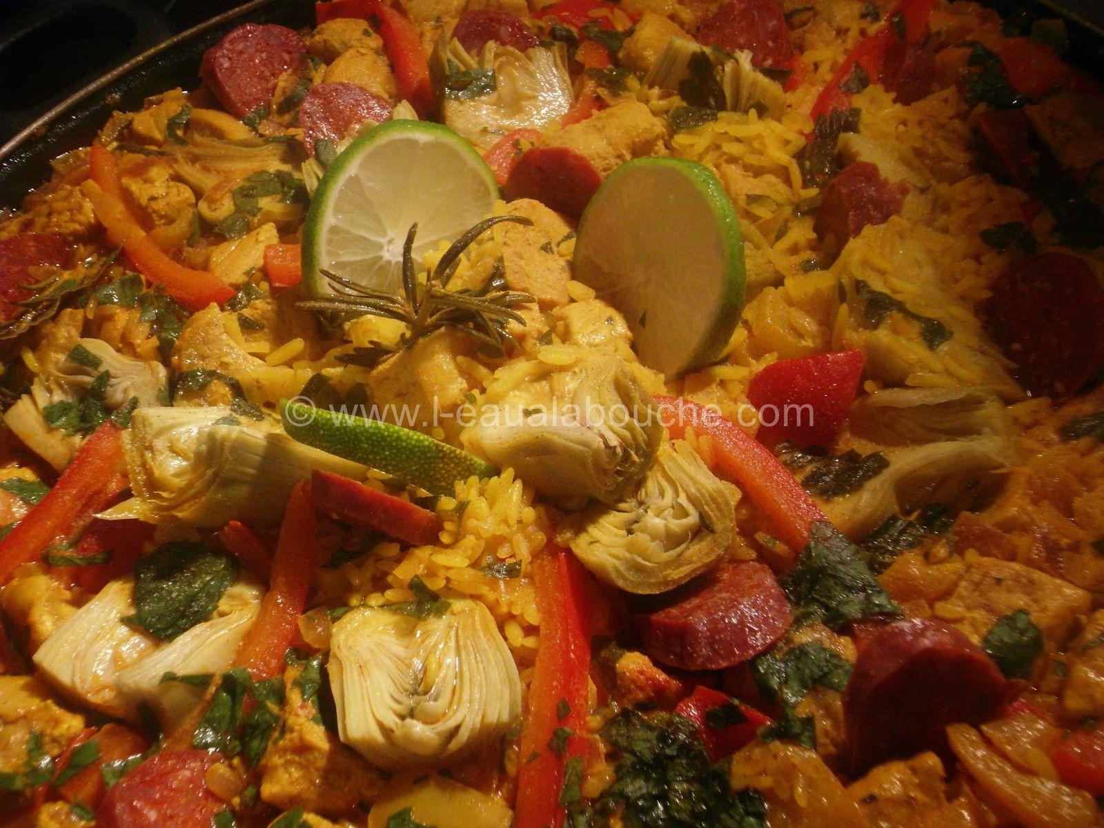 Paella au Porc