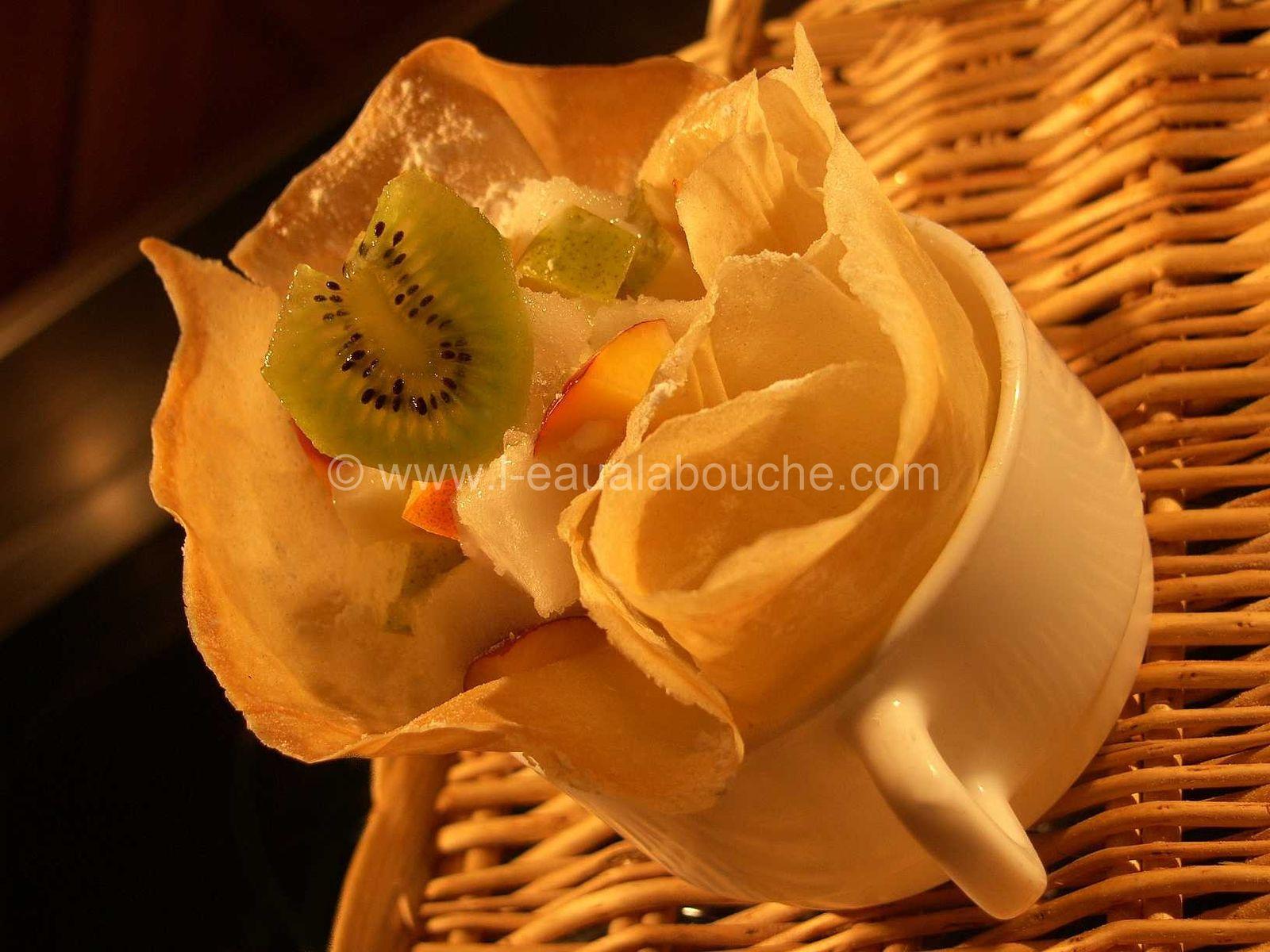 Fleur de Brick aux Fruits et Glace au Citron