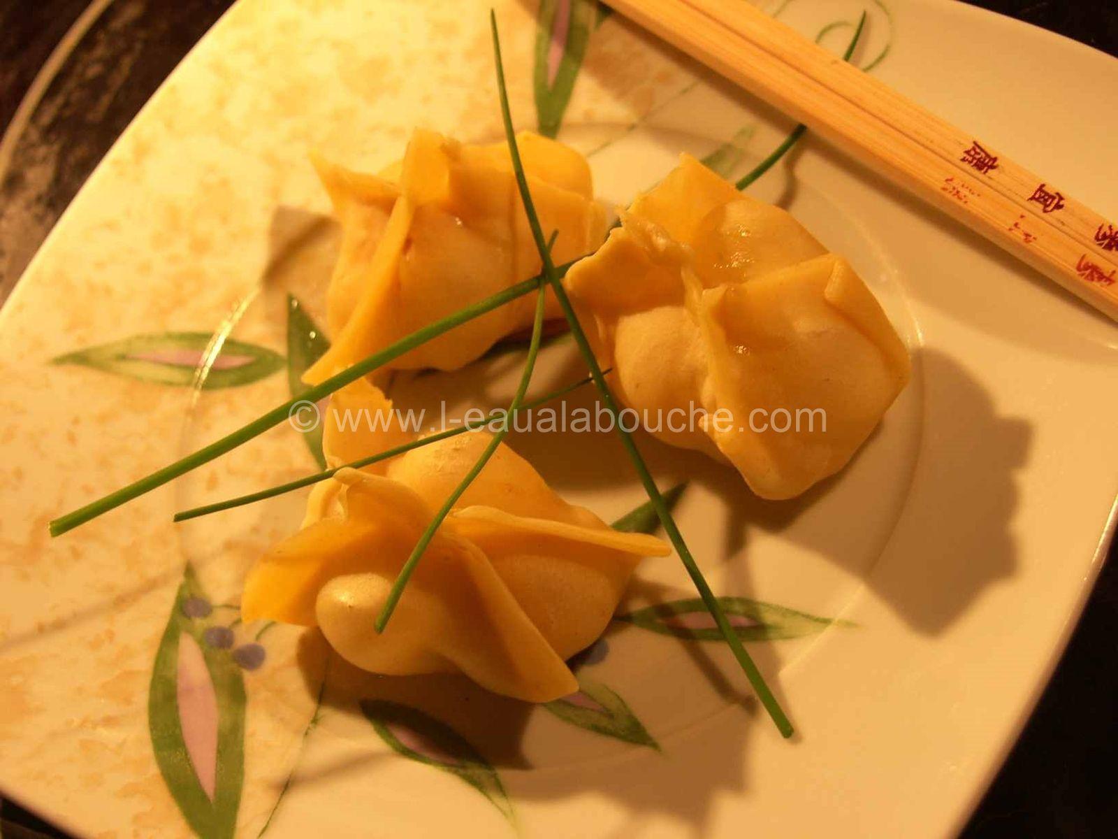 Ravioli à la Vapeur au Poulet Ananas & Curcuma