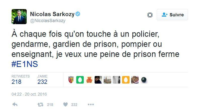 Sarkozy et la police