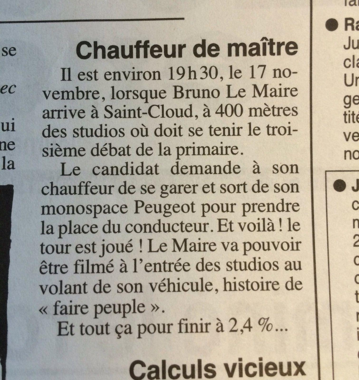 """Quand Bruno Le Maire veut faire """"peuple"""""""