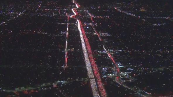 Embouteillages à Los Angeles