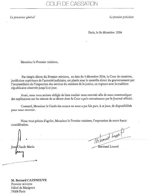 Inquiétude sur la séparation des pouvoirs en France
