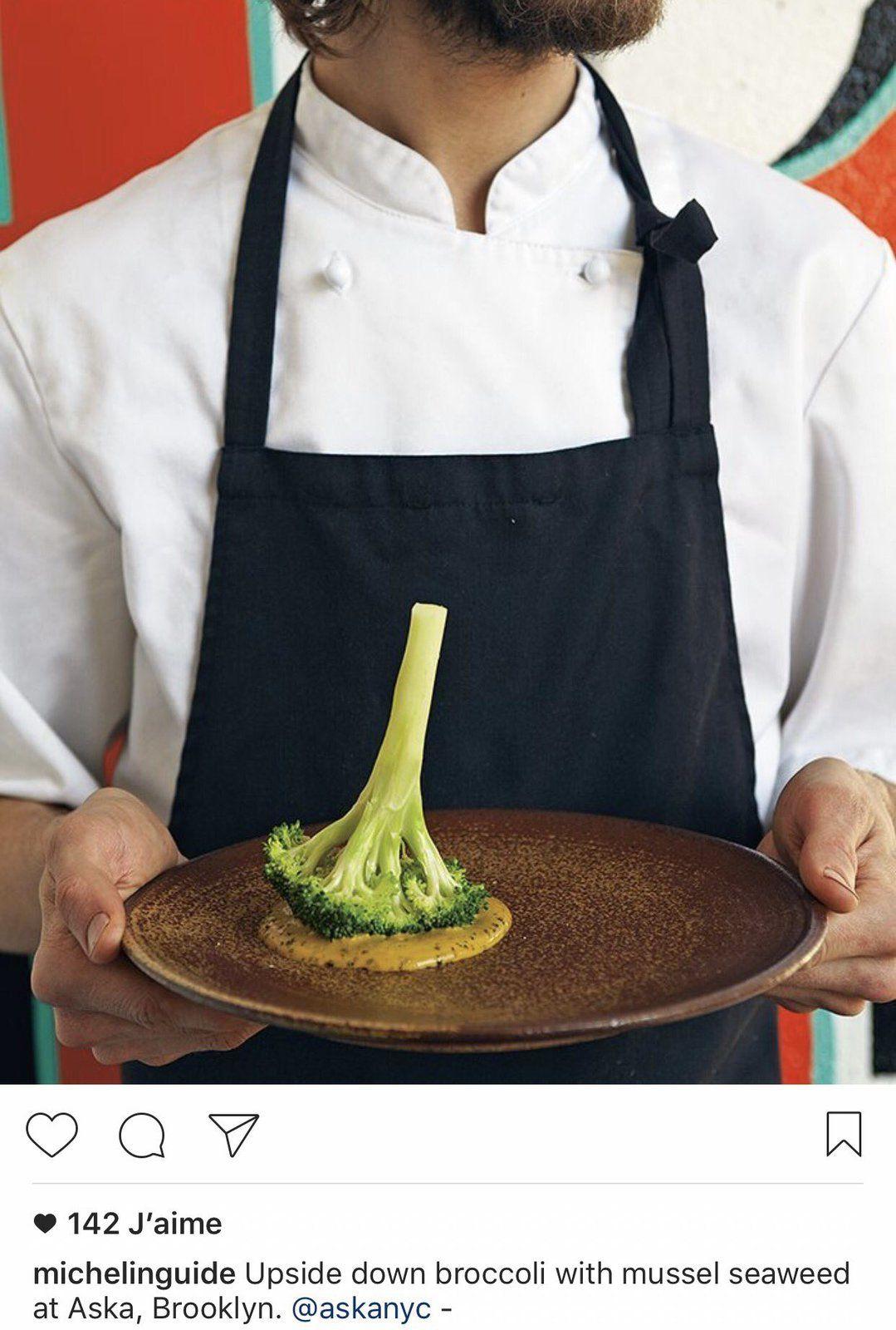 Le broccoli inversé et sa mousse d'huître